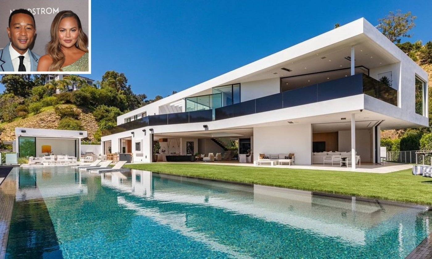 Internal John Listing and Chrissy Teigen's Fresh $17.5 Million Beverly Hills Mansion