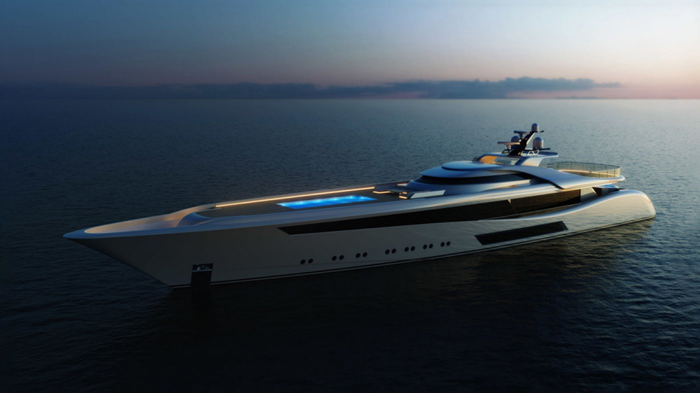 This 207-Foot Megayacht Thought Facets Sleek Traces and a Glass-Bottomed Pool