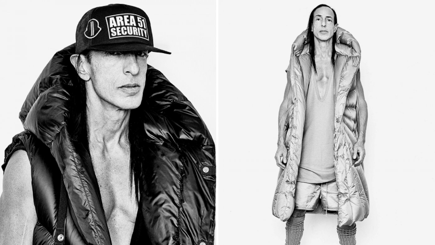 Rick Owens and Moncler Reimagine the Puffy Coat as Wearable Sculpture
