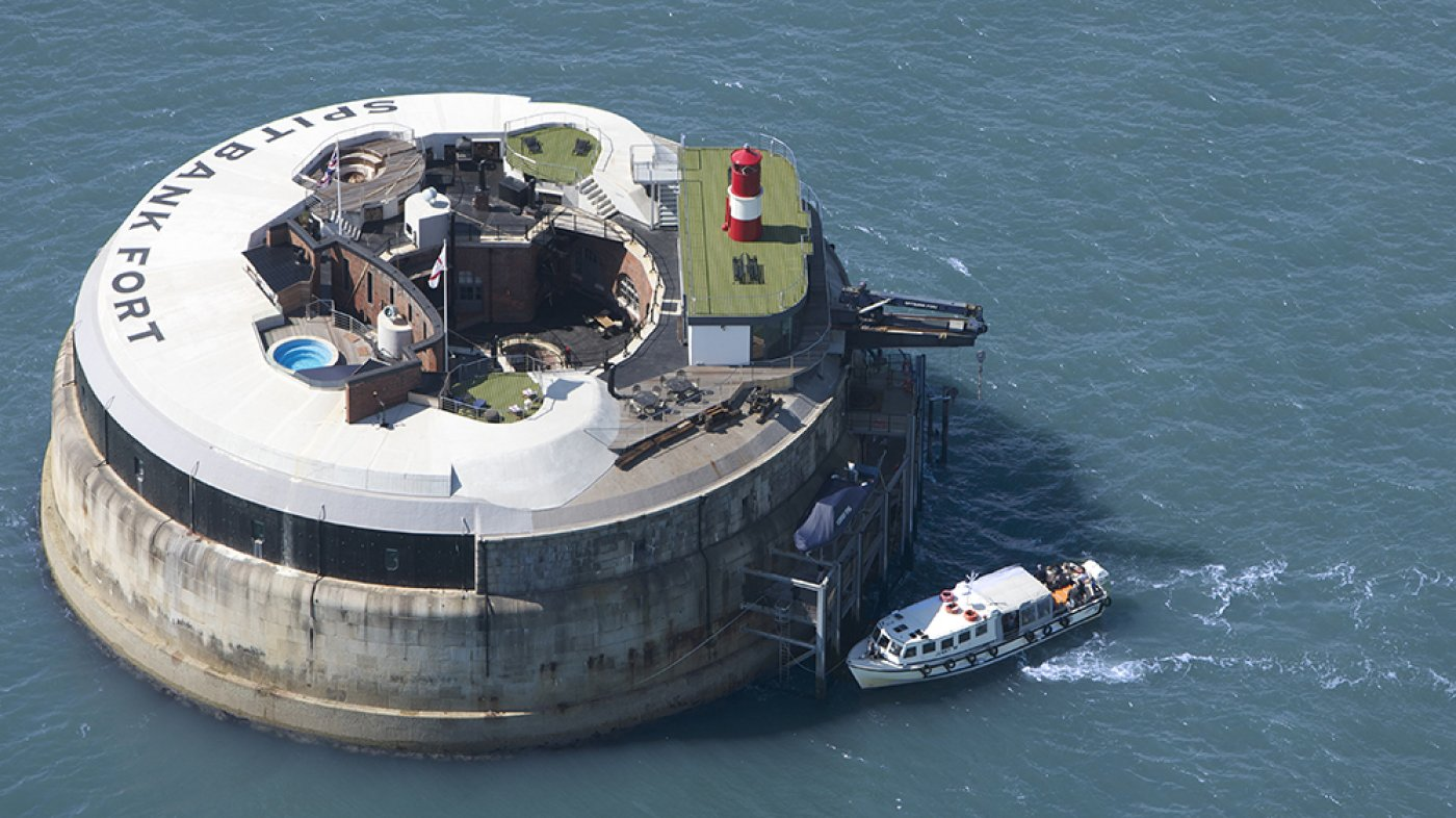 This Renovated Island Fortress Is Now a Lavish $5.2 Million Lair Profitable of a Bond Villain