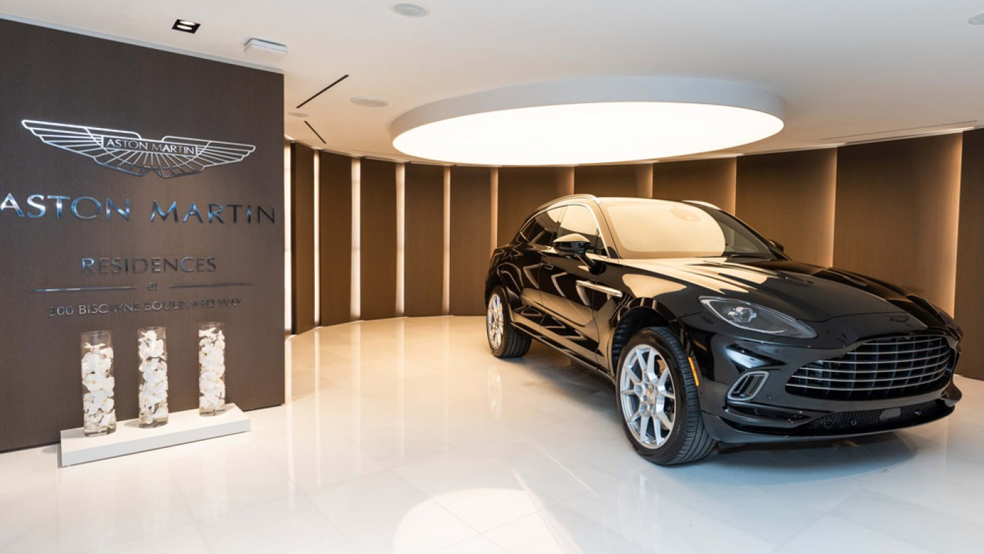 Aston Martin's Unusual Residences in Miami Advance With a Jet-Sunless DBX SUV