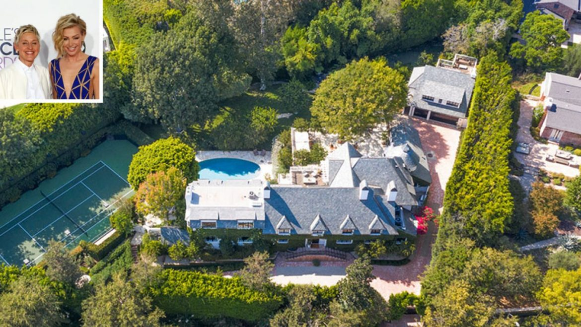 Ellen DeGeneres and Portia de Rossi List Their Sprawling Beverly Hills Estate for $fifty three.5 Million