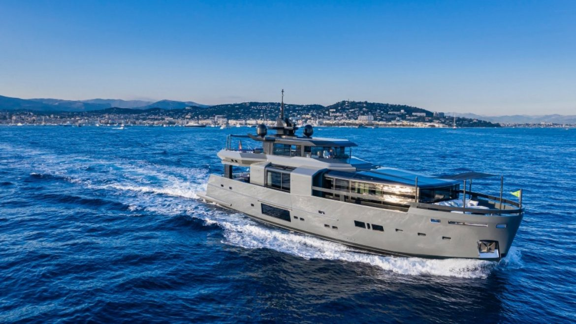 This one zero five-Foot Superyacht Has an Internal That Would Glean Most Luxe Condos Jealous