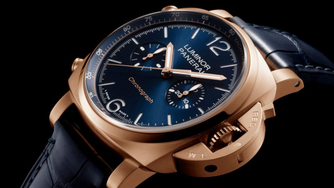 Panerai's Unique Line of Chronograph Watches Now Includes a Luxe Gold-Case Model