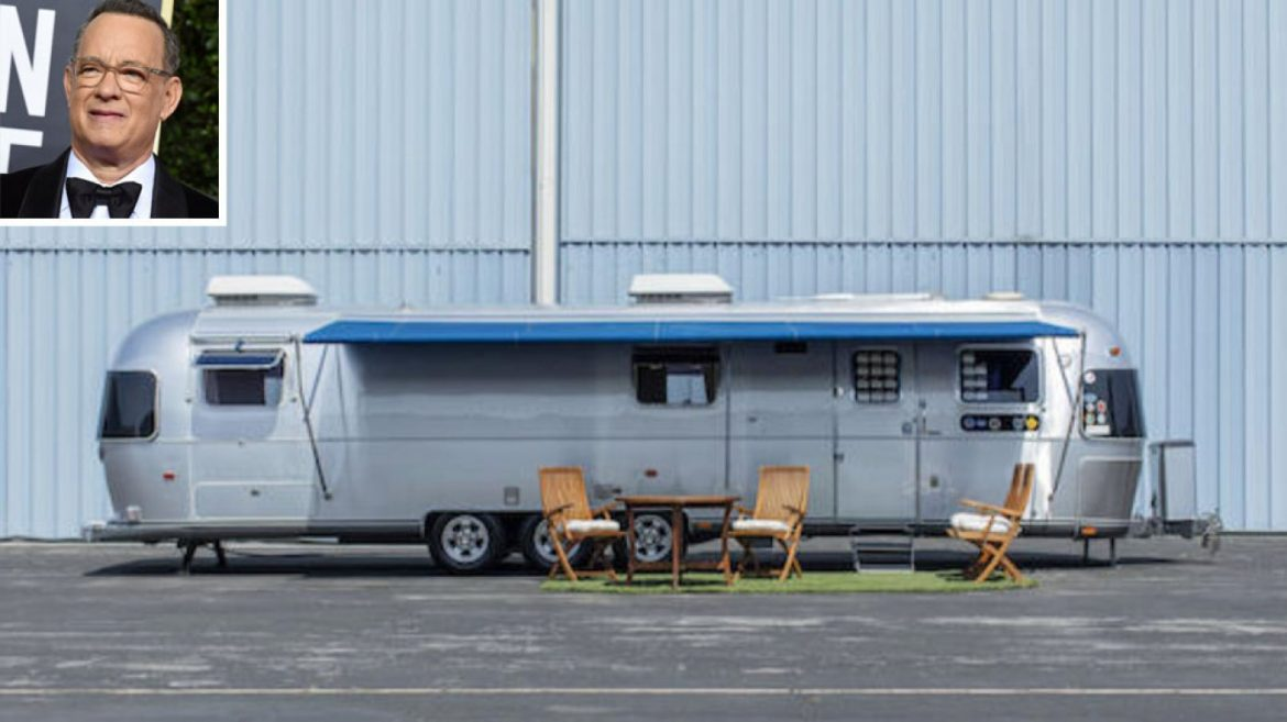 Tom Hanks Bought This Custom Airstream Trailer for His Movie Devices. Now It's Heading to Public sale.
