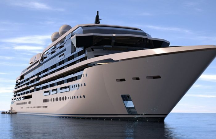 This Story 961-Foot Superyacht Comes With Duplexes and Triplexes That Luxuriate in Their Luxuriate in Elevators