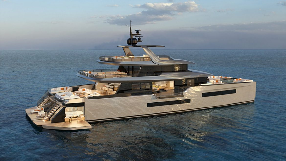 This Modern 130-Foot Luxury Catamaran Comes With an Account Fold-Out Coastline Club
